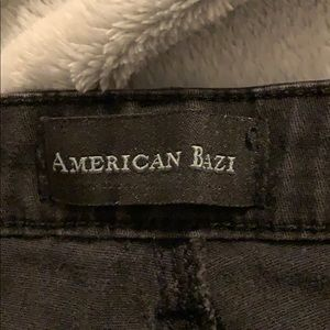 American Bazi distressed black jeans
